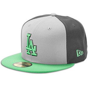 New Era MLB 59fifty Tri Pop Cap   Mens   Dodgers   Grey/Island Green