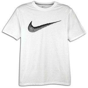 Nike Hangtag Swoosh S/S T Shirt   Mens   Casual   Clothing   White