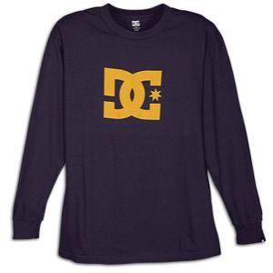 DC Shoes Star L/S T Shirt   Mens   Skate   Clothing   Purple Rain