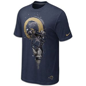 Nike NFL Tri Blend Helmet T Shirt   Mens   St. Louis Rams   College