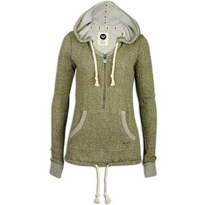 Roxy Edge Of Camp Hoodie   Womens   Casual   Clothing   Moss Green