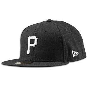 New Era MLB 59Fifty Black & White Basic Cap   Mens   Pirates   Black