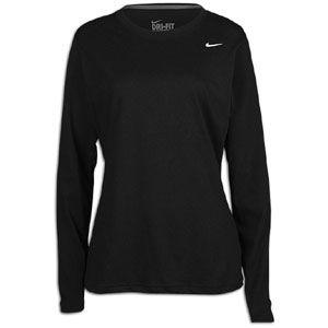Nike Slim Dri fit Cotton L/S Crew   Womens   Training   Clothing