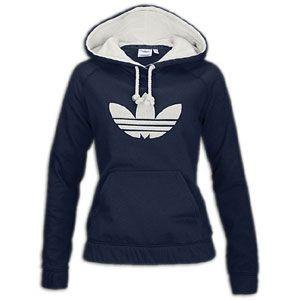 adidas Originals Collegiate Fleece Hoodie   Womens   Dark Navy/Bone