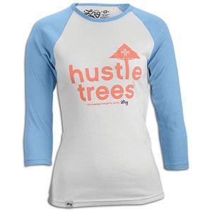 LRG Hustle Trees Baseball T Shirt   Womens   Skate   Clothing   White
