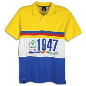 LRG Grand Tour S/S Polo   Mens   Casual   Clothing   True Blue/Yellow
