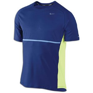 Nike Sphere S/S T Shirt   Mens   Running   Clothing   Deep Royal Blue