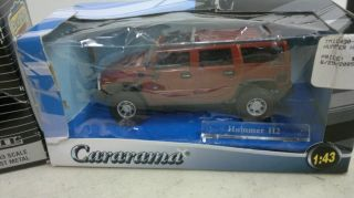 Ertl and Cararama Die Cast Cars Scale 1 43 Hummer and Mustang
