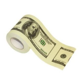 100 Hundred Dollar Bill Toilet Paper  Money TP Roll Funny Novelty Gag