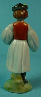 "Hungarian Herend Porcelain Hand Painted ""Peasant Girl with Hatchet"