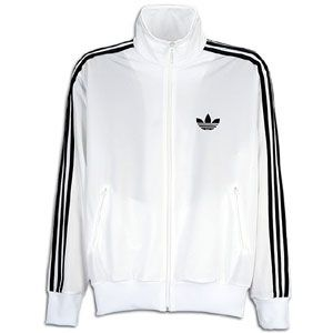 adidas Originals Firebird Full Zip Track Jacket   Mens   White/Black