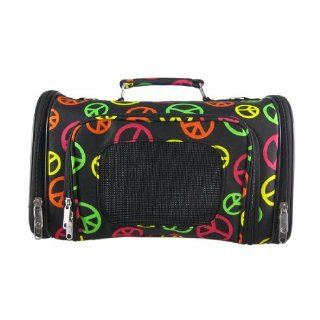 Multicolored Peace Sign Pet Dog Cat Carrier   14 Pet