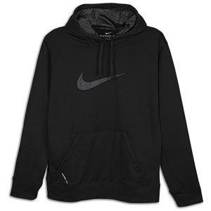 Nike KO Swoosh Logo Hoodie   Mens   Training   Clothing   Black/Black