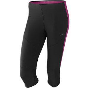 Nike Tech Capri   Womens   Running   Clothing   Black/Rave Pink/Matte