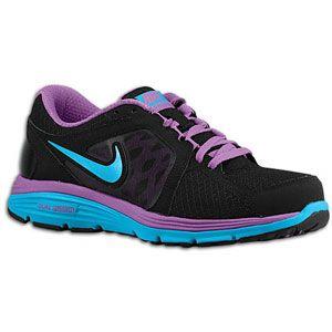 Nike Dual Fusion Run   Womens   Black/Laser Purple/Neo Turquoise/Neo