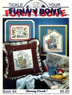 Counted cross stitch pattern booklet, TICKLE YOUR FUNNY BONE