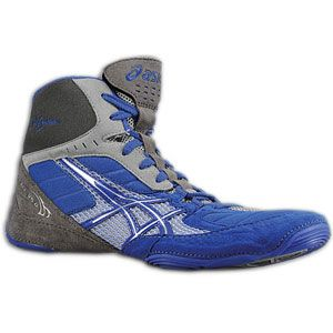 ASICS® Cael V5.0   Mens   Wrestling   Shoes   Royal/Silver/Titanium