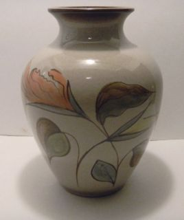 Gorgeous Denby Polycrome Vase Hand Painted Stoneware