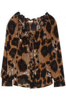 Chelsea Flower Leopard print silk blouse