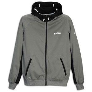 Nike Lebron Diamond F/Z Hoodie   Mens   Carbon Heather/Black/White