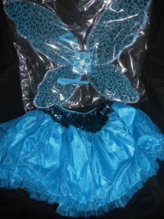 NEW Blue fairy 2pc Halloween costume Child Dress Up Costume butterfly