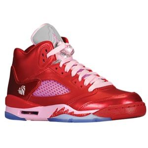 Jordan Retro 5   Girls Grade School   Basketball   Shoes   Gym Red
