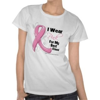 Wear Pink For My Best Friend   Breast Cancer T Shirt