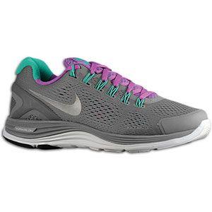 Nike LunarGlide + 4   Womens   Cool Grey/Laser Purple/Atomic Teal