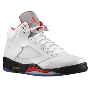 Jordan Retro 5   Mens   Basketball   Shoes   White/Red/Black