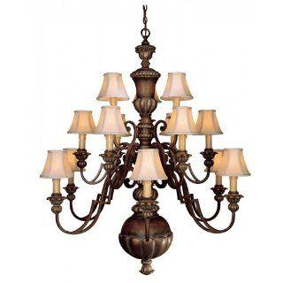 Minka Lavery 948 126 15 Light Chandelier, Belcaro Walnut