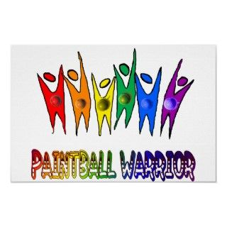 Paintball Warrior posters by aaanativearts