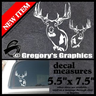 Whitetail Deer Buck Archery Bow Hunting Pair of Decals