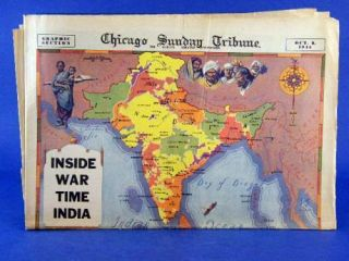 Tribune Graphic Section WWII India Huntz Hall Dead End Kids