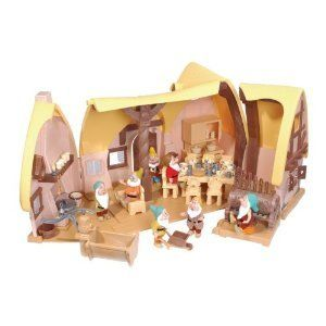 Disney Snow White and Seven Dwarfs Cottage Playset Toys