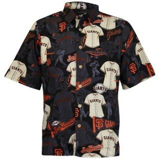 Reyn Spooner San Francisco Giants Black Jersey Print