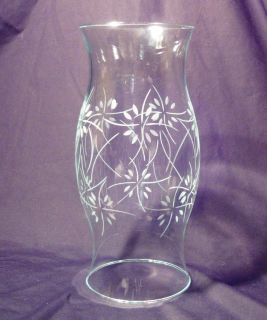 Etched Hurricane Lamp Candle Shade 11 1 2 Inch