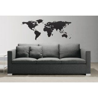 Art Decal Sticker World Map Globe Earth Country #131