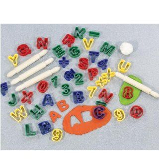 ABC & Numbers Dough Cutter Set: Toys & Games