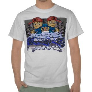 Graffiti Art Character Writer Urban Casual Tshirt