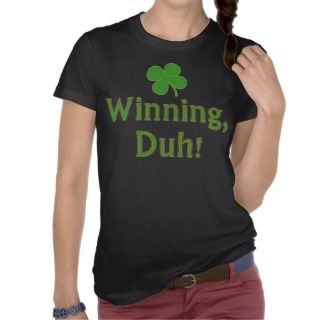 Charlie Sheen Lucky Winning T Shirt
