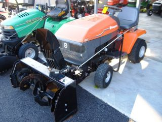 HUSQVARNA YTH180 LAWN TRACTOR W BERCO TWO STAGE SNOW BLOWER KOHLER