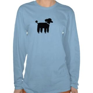 Poodle Dog Graphic (Black) Tee Shirt