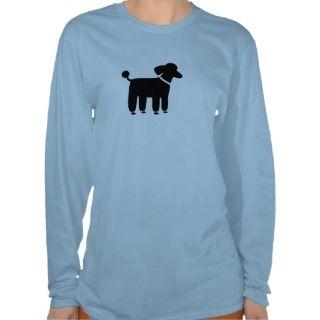 Poodle Dog Graphic (Black) Tee Shirt