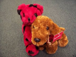 Adorable Valentines Heart Bear Plush Dachshund New