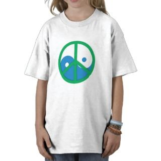 Yin Yang with Peace sign T Shirt