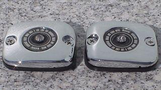 CHROME BRAKE & CLUTCH FLUID CAPS for 2002 2005 Harley Davidson V Rod