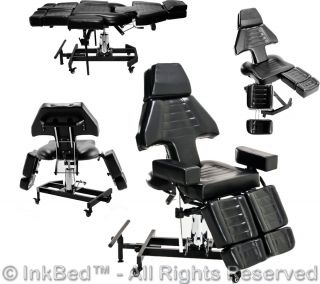 Inkbed Tattoo Client Hydraulic Chair Bed Massage Table Ink Bed Salon