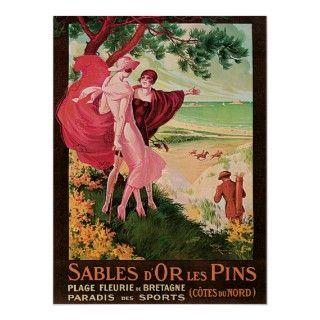Sables DOr Les Pins France Vintage Poster Art Henry Le Monnier 1925