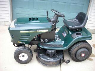 LT1000 19 5 HP 42 Hydrostatic Lawn Garden Tractor Mower