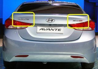2011 2012 Hyundai Elantra Trunk Rear Avante M16GDI Letter Logo Emblem